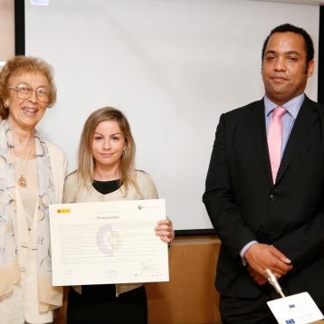 Firma del Charter de la Diversidad, junto a Myrtha Casanova , Presidenta Instituto Europeo para la gestión de la diversidad